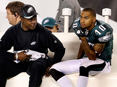"""""""We´re all focused on what we need to do,"""" DeSean Jackson said at yesterday´s Eagles practice. (Ron Cortes/Staff Photographer)"""