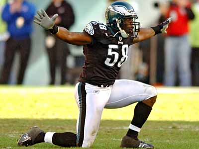 Trent Cole was one of six Eagles selected to the 2009 Pro Bowl. (Clem Murray / Staff Photographer)