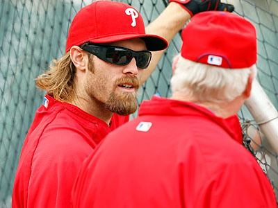 Jayson Werth, left, declined the Phillies´ offer for arbitration and signed with the Washington Nationals. (Yong Kim/Staff file photo)