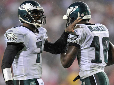 Michael Vick practiced today and is expected to play Sunday, however Jeremy Maclin was still not practicing . (Gail Burton/AP file photo)