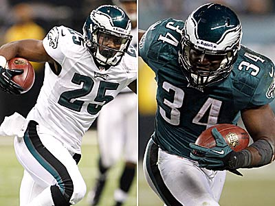 Running backs LeSean McCoy and Bryce Brown could be a dynamic duo next season for the Eagles. (Staff file photos)