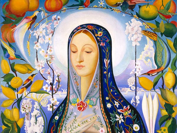 "Joseph Stella´s ""The Virgin,"" oil on canvas, 1926, is in ""American Moderns."" It is in the Brooklyn Museum´s collection."