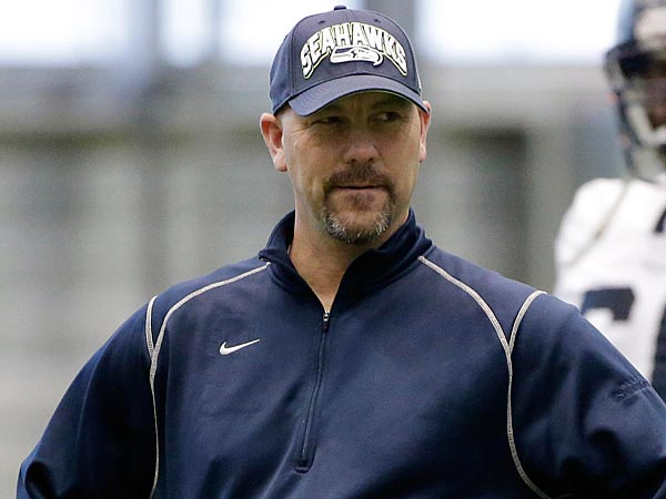 The Eagles will fly Seahawks defensive coordinator Gus Bradley to Philadelphia for a second interview on Tuesday.(Ted S. Warren/AP file photo)
