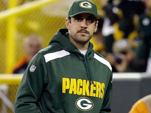Injured Packers quarterback Aaron Rodgers likely won´t play vs. the Eagles. (Morry Gash/AP)