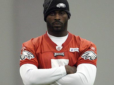 Michael Vick missed practice Friday, and Vince Young will likely start in his place Sunday against the Giants. (Yong Kim/Staff Photographer)