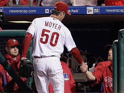 According to sources, the Phillies did not offer salary arbitration to any of their four arbitration-eligible players, including Jamie Moyer. (Ron Cortes/Staff file photo)