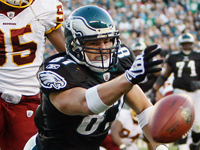 Eagles tight end Brent Celek fired back at Cowboys linebacker Keith Brooking during a radio interview. (AP photo)