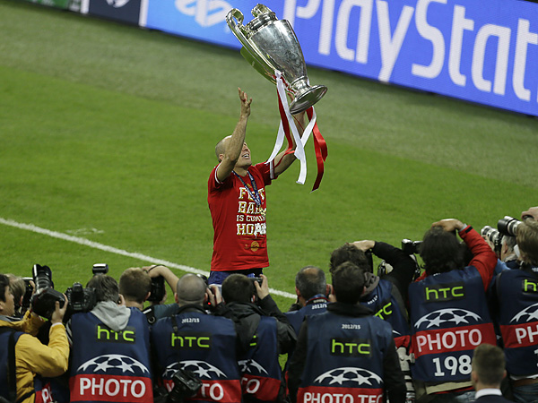Arjen Robben helped Bayern Munich win the UEFA Champions League last season. (Alastair Grant/AP file photo)