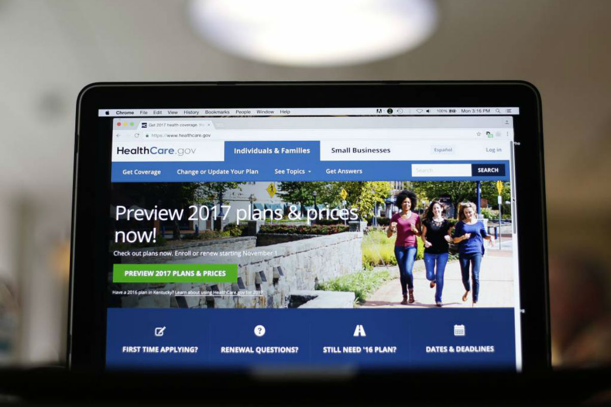 In this Oct. 24, 2016, file photo, the HealthCare.gov 2017 web site home page as seen in Washington. Only about one in four Americans wants President-elect Donald Trump to entirely repeal his predecessor´s health care law that extended coverage to millions, a new poll has found.