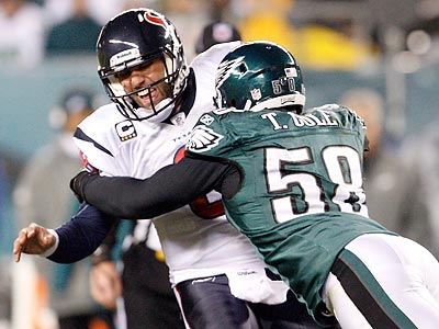 The Eagles defense allowed 24 points to the Texans during Thursday night´s game. (Ron Cortes/Staff Photographer)