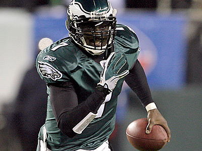 Michael Vick´s speed and sharp arm could make him a talent on the baseball diamond. (Yong Kim/Staff Photographer)