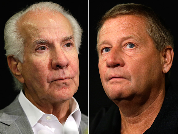 Ed Snider (left) and Peter Luukko (right). (Matt Rourke/AP)