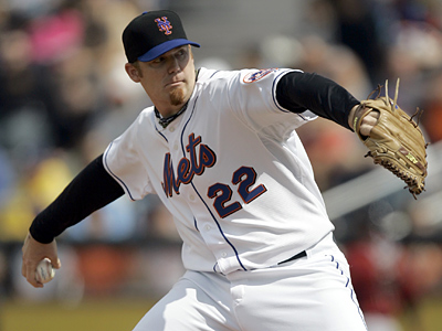 Relief pitcher J.J. Putz, who pitched for the Mets last season, is believed to be among the bullpen arms the Phillies are considering. (AP Photo/Jeff Roberson)