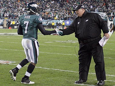 Michael Vick, Andy Reid and the Eagles take on the Cowboys Sunday night. (Yong Kim/Staff Photographer)