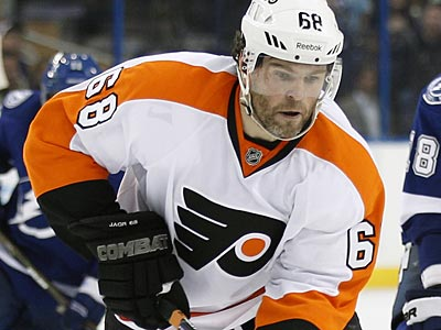 Jarmoir Jagr has missed eight Flyers games due to two groin injuries. (Chris O´Meara/AP Photo)