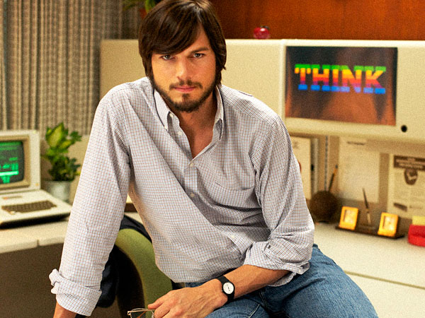 "This undated publicity film image provided by the Sundance Institute shows Aston Kutcher as Steve Jobs in ""JOBS,"" the 2013 Sundance Film Festival´s closing night film in January. (AP Photo/Sundance Institute)"