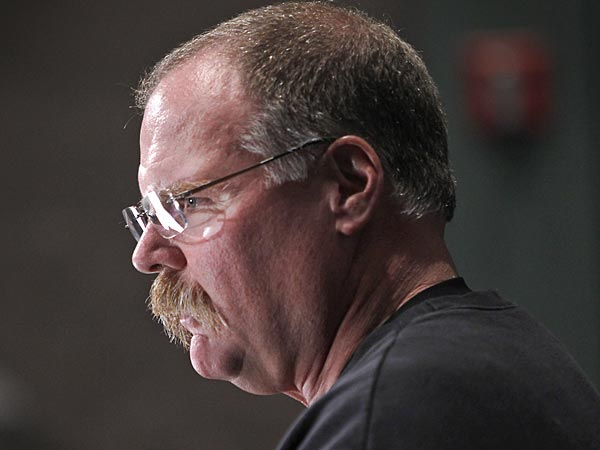 Philadelphia Eagles head coach Andy Reid during press conference at<br />NovaCare Complex in Philadelphia on Monday afternoon December 3,<br />2012. (Alejandro A. Alvarez/Staff Photographer)