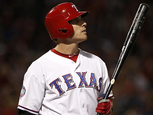 Texas Rangers´ Josh Hamilton (32) during an at bat against the Seattle Mariners in a baseball game Saturday, Sept. 15, 2012, in Arlington, Texas. The Mariners won 8-6. (AP Photo/Tony Gutierrez)