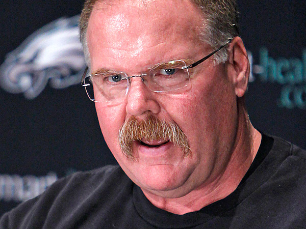 Philadelphia Eagles head coach Andy Reid during press conference at<br />NovaCare Complex in Philadelphia on Monday afternoon. (Alejandro A. Alvarez/Staff Photographer)
