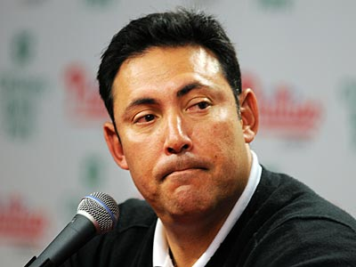 """I don´t have any urgency to do something right now,"" Phillies GM Ruben Amaro Jr. said. (Sarah J. Glover/Staff Photographer)"