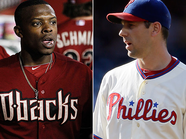 The Phillies and Diamondbacks are reportedly discussing a trade involving Justin Upton and Cliff Lee. (AP Photos)