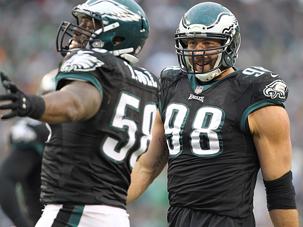 Trent Cole (left) and Connor Barwin (right). (David Maialetti/Staff Photographer)