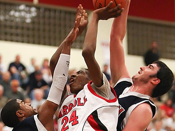 Archbishop Carroll´s Derrick Jones (24) in action last March.  ( Steven M. Falk / Staff Photographer )