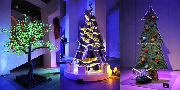 from left trees designed by sonia rykel dior stella mccartney images courtesy of mydaily uk aol - Designer Christmas Trees