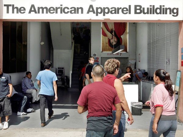 The American Apparel Building in Los Angeles is the largest garment factory in the country. (AP Photo / Ric Francis)