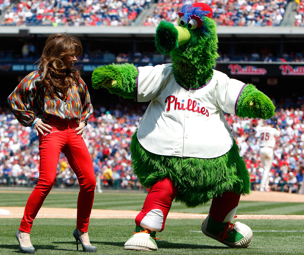 Philly Phanatic Mom With Phillie Phanatic at