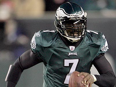 Michael Vick threw for 302 yards and 2 touchdowns against the Texans last Thursday night. (Yong Kim/Staff Photographer)