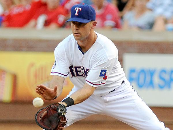 Texas Rangers infielder Michael Young. (Matt Strasen/AP)
