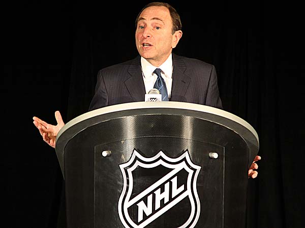 A representative from the NHL and the players' union met on Thursday but failed to make any progress during the 89th day of the lockout. (Mary Altaffer/AP)