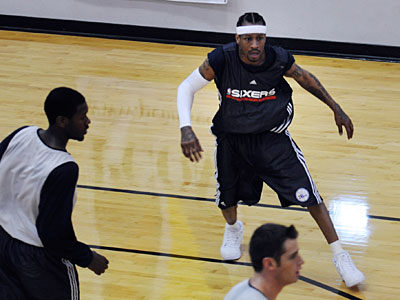 Allen Iverson will start tonight against the Denver Nuggets at the Wachovia Center. (Kriston J. Bethel/Staff Photographer)