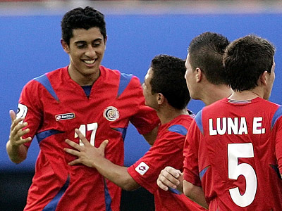 Costa Rica´s Josue Martinez, left, seen here during the FIFA U-17 World Cup in 2007 has signed with the Union. (AP Photo/ Lee Jin-man)