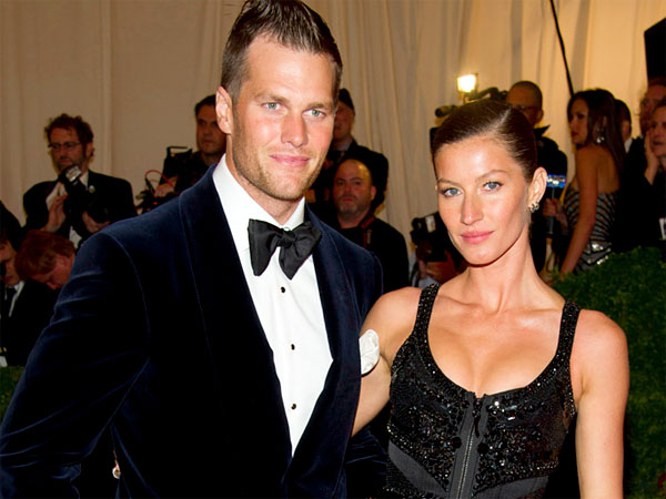 Left, Tom Brady and his wife, Gisele Bundchen. (AP Photo)