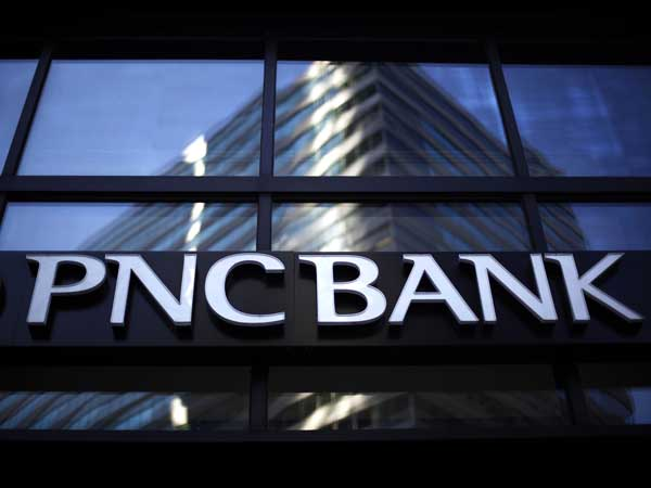 FILE - In this Jan. 3, 2011 file photo, a sign is shown for a PNC Bank in Philadelphia. (AP Photo/Matt Rourke, file)