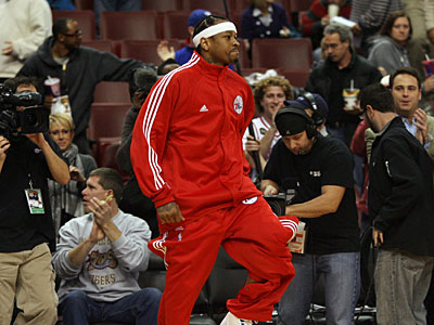 Allen Iversoncurrently ranks second among Eastern Conference guards in All-Star Game balloting with 635,084 votes. (Yong Kim/Staff file photo)
