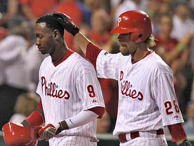 Scott Boras represents both Phillies outfielder Domonic Brown (left) and former Phillie Jayson Werth (right). (David M Warren/Staff file photo)