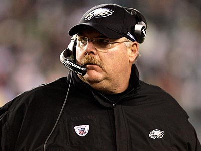 Andy Reid and the Eagles travel to Dallas to take on the Cowboys Sunday night. (Yong Kim / Staff Photographer)