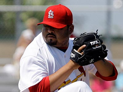 The Phillies might be close to signing veteran lefty reliever Dennys Reyes. (AP Photo/Richard Drew)