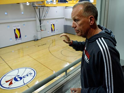 Sixers coach Doug Collins looks on during the final days of training camp. (David Maialetti/Staff Photographer)