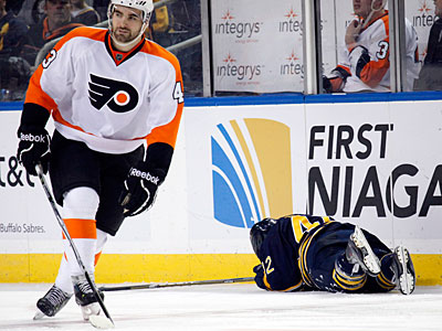 Marc-Andre Bourdon could face suspension after his hit on Nathan Gerbe. (AP Photo/Derek Gee)