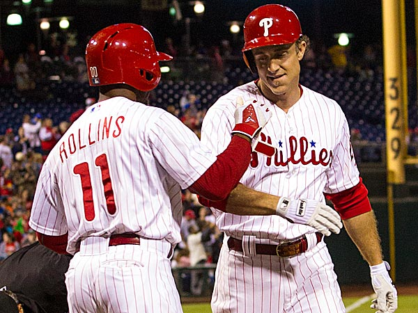 The Phillies´ Jimmy Rollins and Chase Utley. (Chris Szagola/AP)