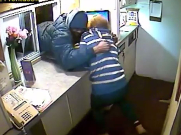 Police are looking for a man who was caught on camera Tuesday morning robbing a self-described romantic adult motel in Cherry Hill.