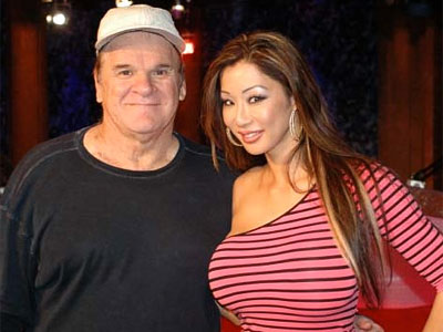 Pete Rose with Kiana Kim.