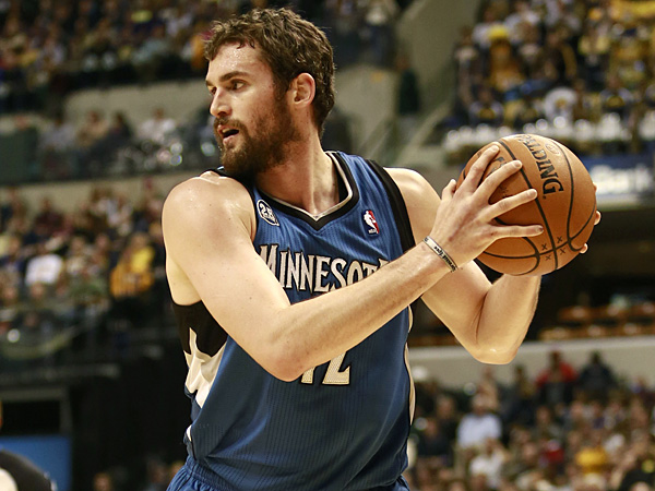 T´Wolves forward Kevin Love. (R Brent Smith/AP)