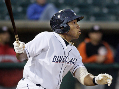Jonathan Singleton is moving back to first base after playing left field at single-A Clearwater. (Elizabeth Robertson/Staff file photo)