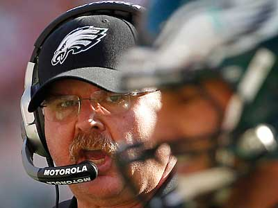 Andy Reid was encouraged by the performance of his defense. (Ron Cortes/Staff Photographer)