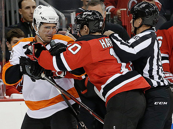 Flyers center Chris VandeVelde. (AP Photo/Julio Cortez)
